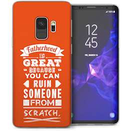 Samsung Galaxy S9 Dad Fatherhood Funny Quote TPU Gel Case – Orange