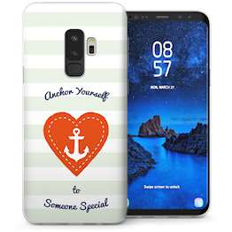 Samsung Galaxy S9 Plus Anchor Someone Special Message TPU Gel Case – White