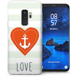 Samsung Galaxy S9 Plus Anchor Love Message TPU Gel Case – White