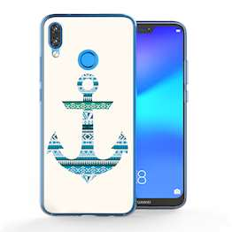 Huawei P20 Lite Aztec Blue Anchor TPU Gel Case