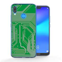 Huawei P20 Lite Green Circuit Board TPU Gel Case