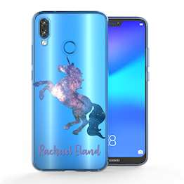 Huawei P20 Lite Blue Unicorn Personalised TPU Gel Case