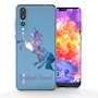 Huawei P20 Pro Blue Unicorn Personalised TPU Gel Case