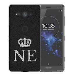 Sony Xperia XZ2 Compact Black Crown Personalised TPU Gel Case