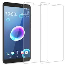 HTC Desire 12 Tempered Glass (Twin Pack) - Clear