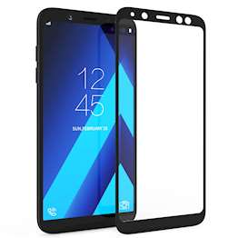 Samsung Galaxy A6 (2018) Tempered Glass (Single) - Black Edge