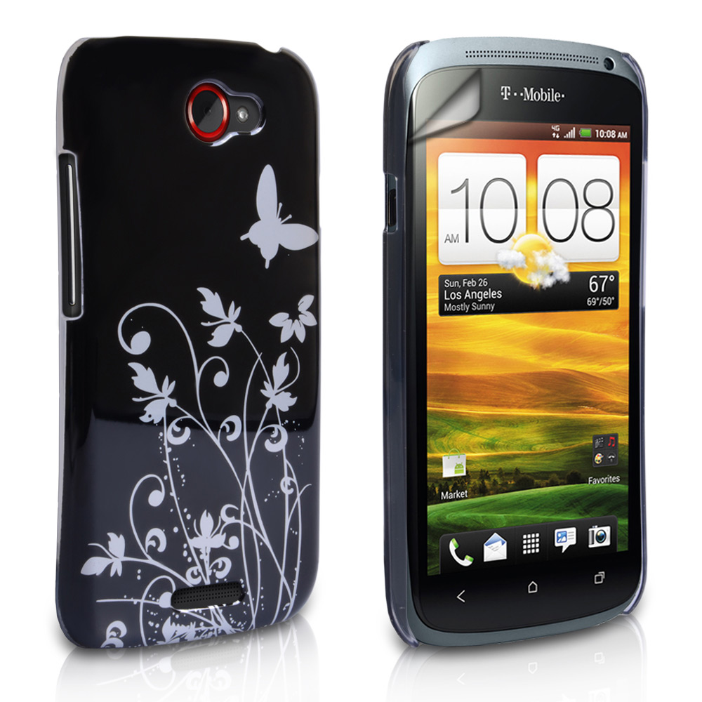 YouSave Accessories HTC One S Black Butterfly IMD Hard Case