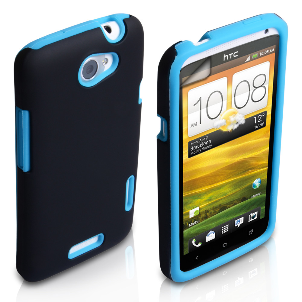 YouSave Accessories HTC One X Grip Combo Case - Blue