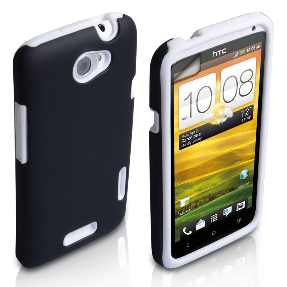 YouSave Accessories HTC One X Grip Combo Case - White