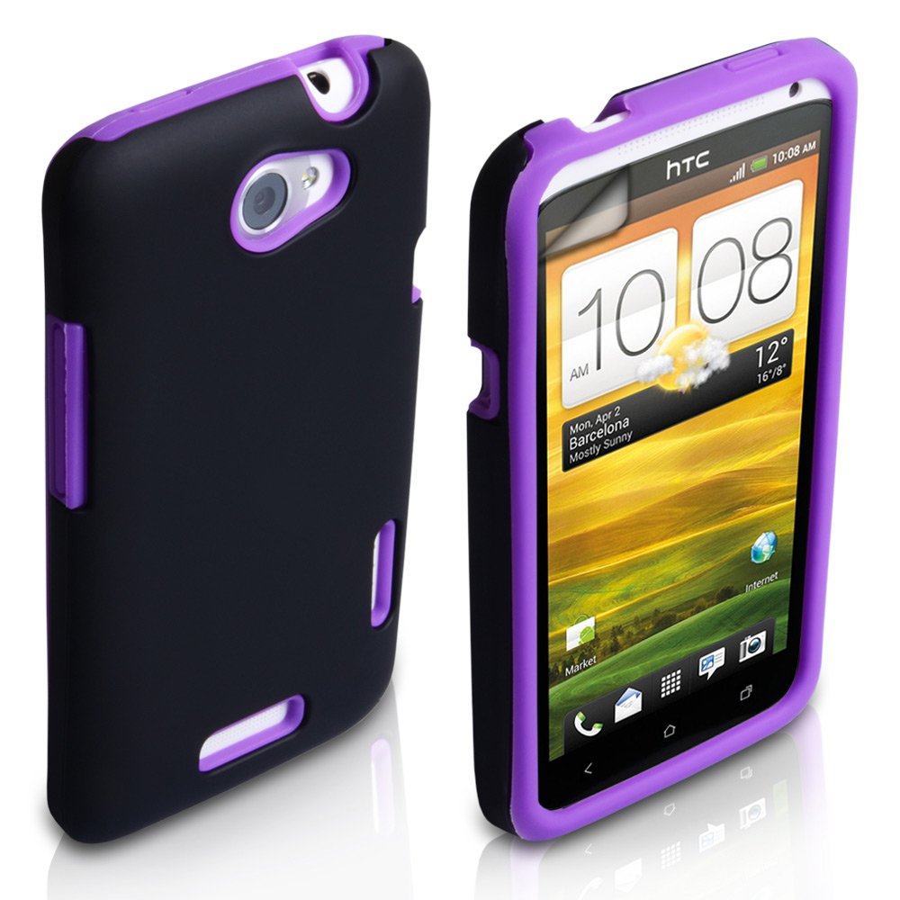 YouSave Accessories HTC One X Grip Combo Case - Purple