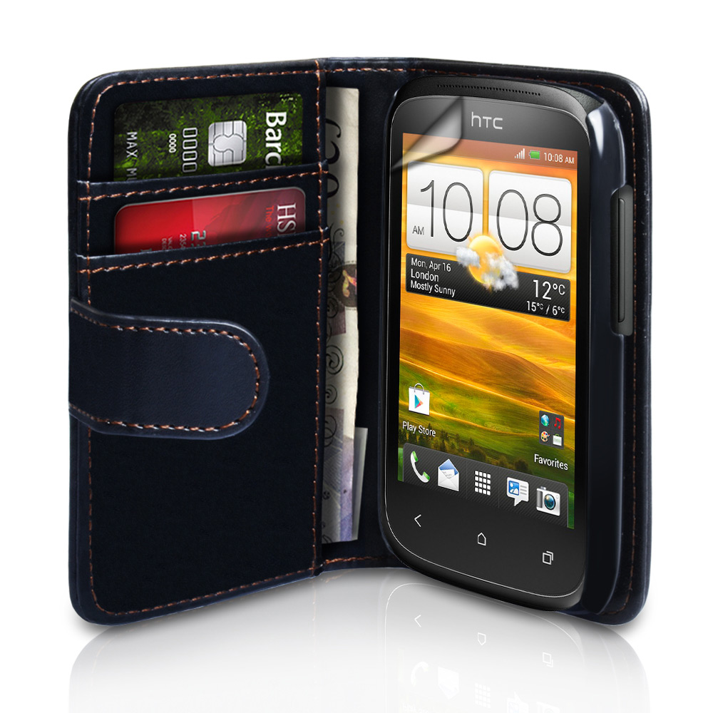 YouSave Accessories HTC Desire C Leather Effect Wallet Case - Black