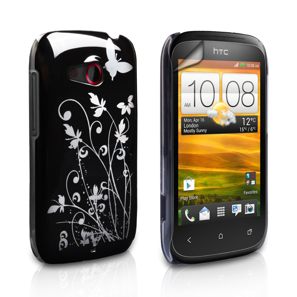 YouSave Accessories HTC Desire C Black Butterfly IMD Hard Case