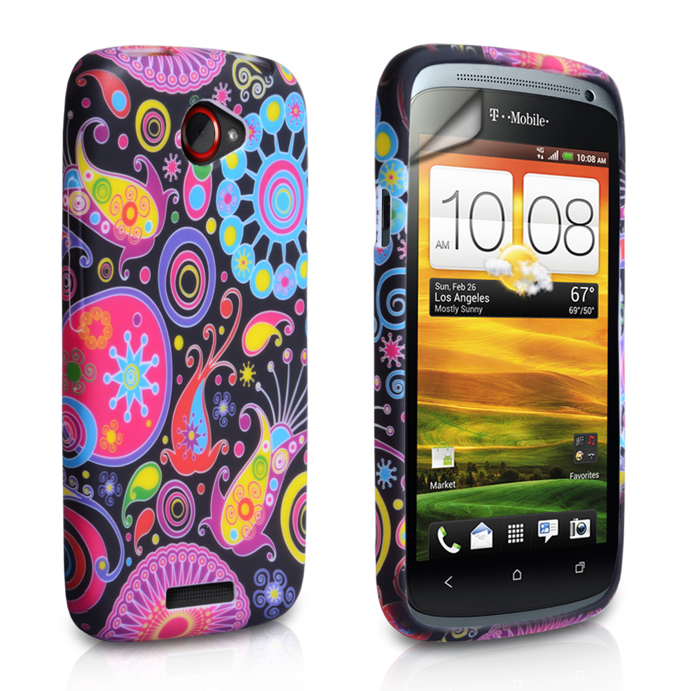 YouSave Accessories HTC One S Black Jellyfish Hard Case