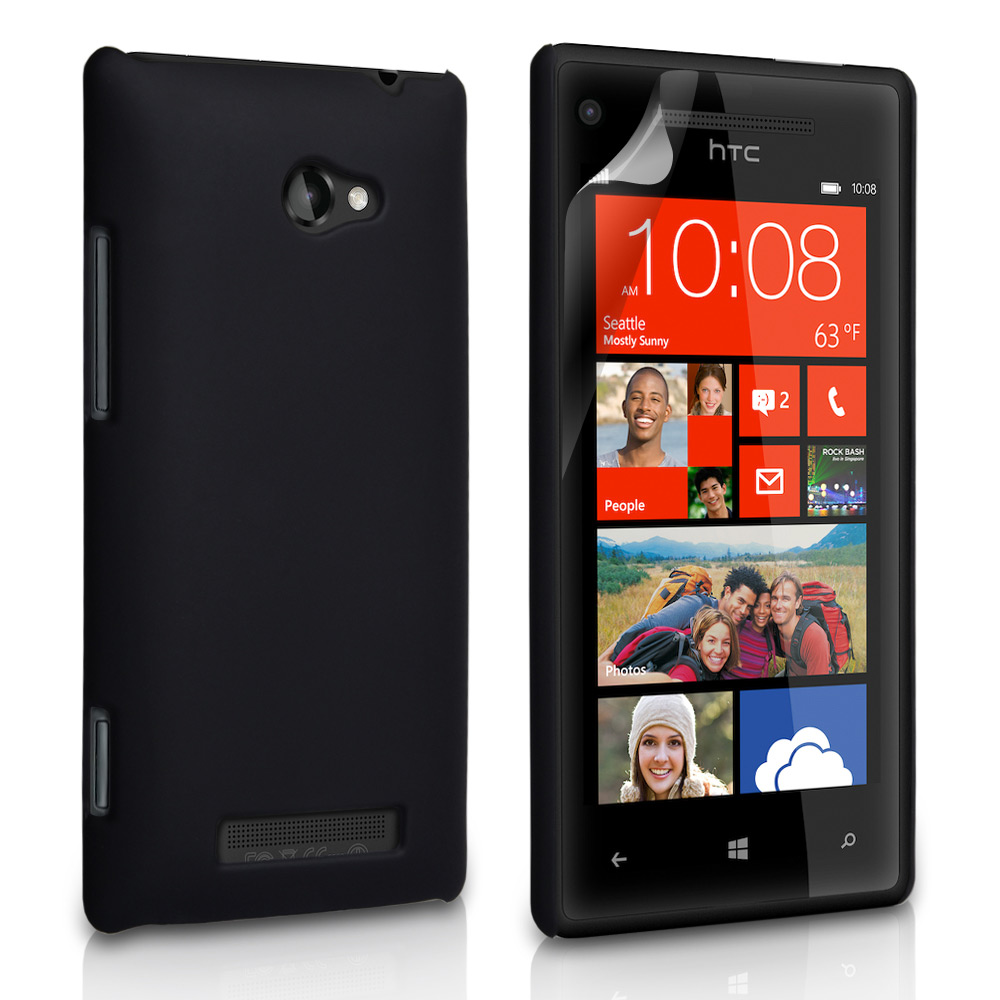 YouSave Accessories HTC 8X Hard Hybrid Case - Black