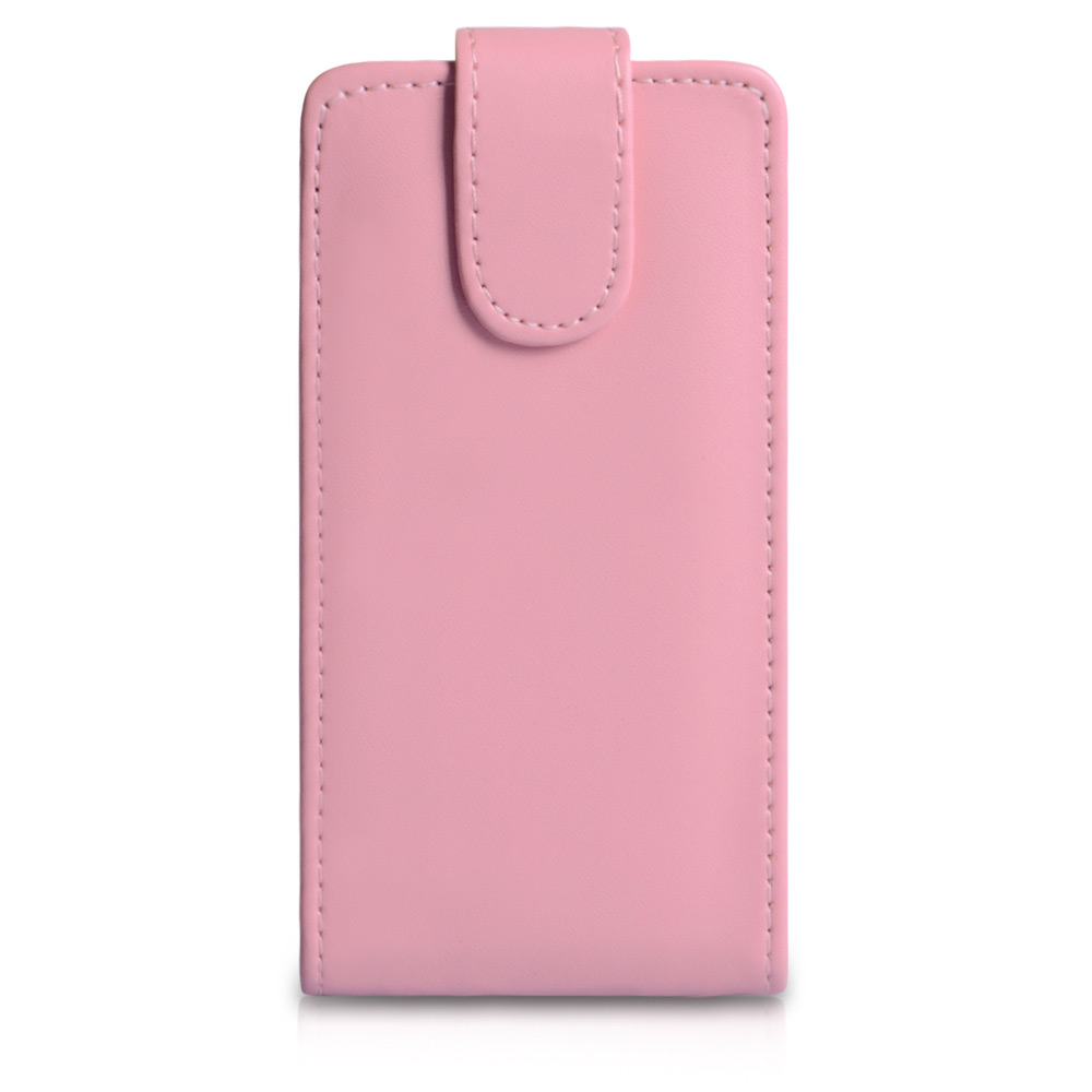 YouSave Accessories HTC One SV Leather Effect Flip Case - Baby Pink