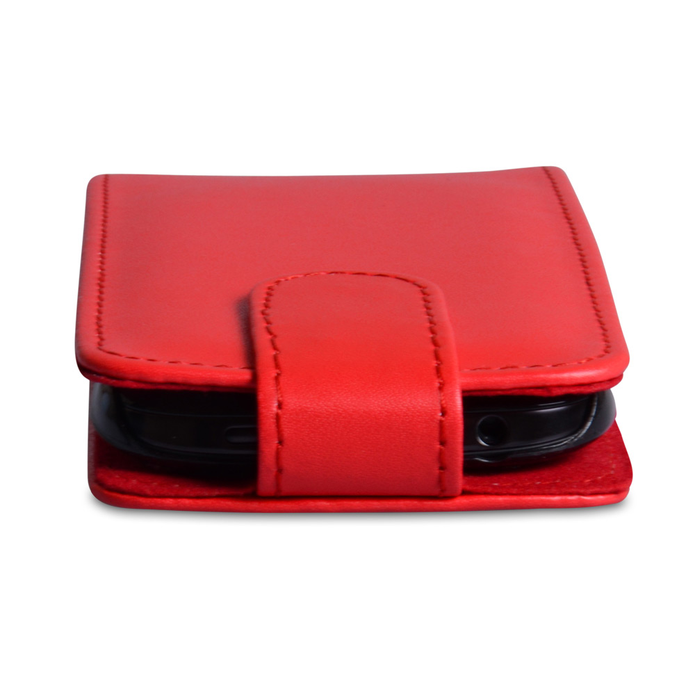YouSave Accessories HTC One SV Leather Effect Flip Case - Red