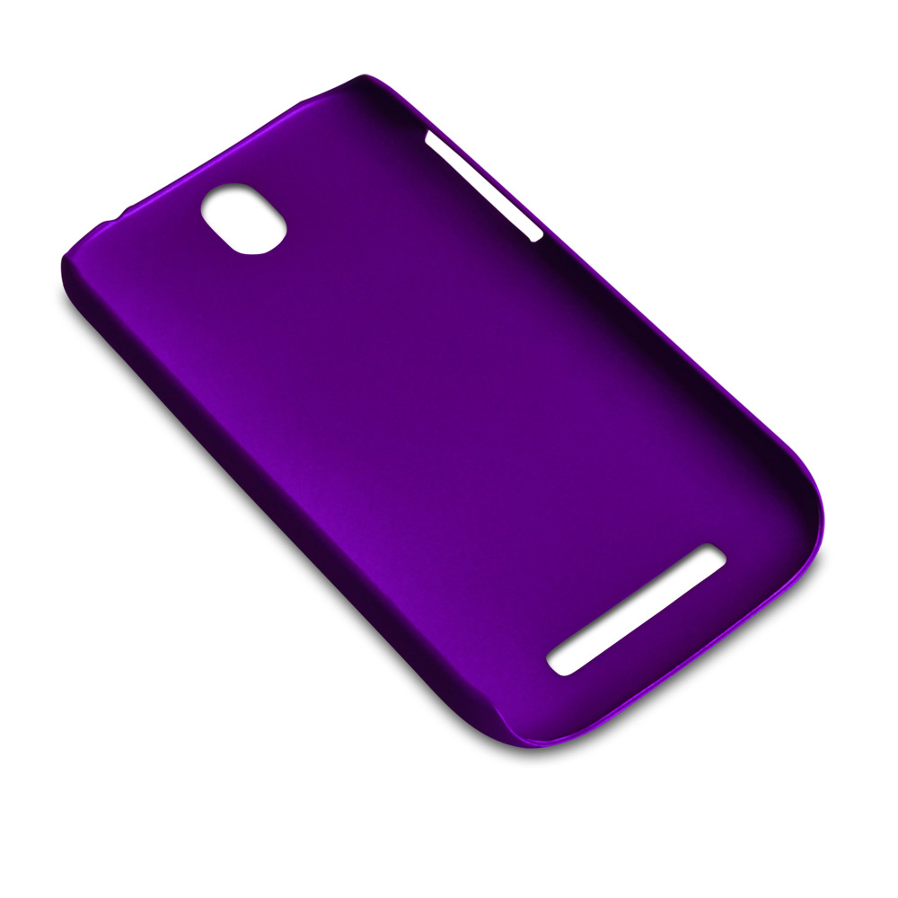 YouSave Accessories HTC One SV Purple Hard Hybrid Case