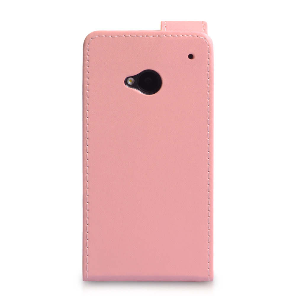 YouSave Accessories HTC One Leather Effect Flip Case - Baby Pink