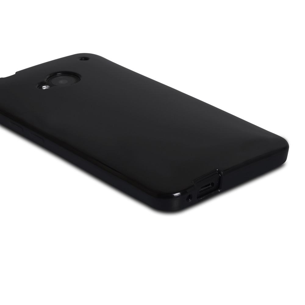 YouSave Accessories HTC One Silicone Gel Case - Black