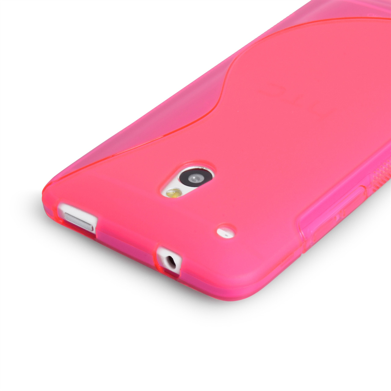 Caseflex HTC One Mini S-Line Gel Case - Hot Pink