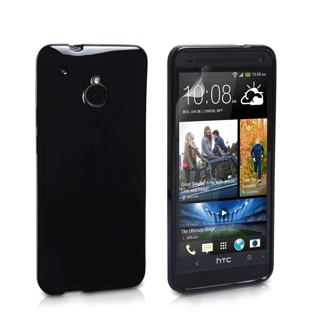 YouSave Accessories HTC ONE Mini Silicone Gel Case - Black