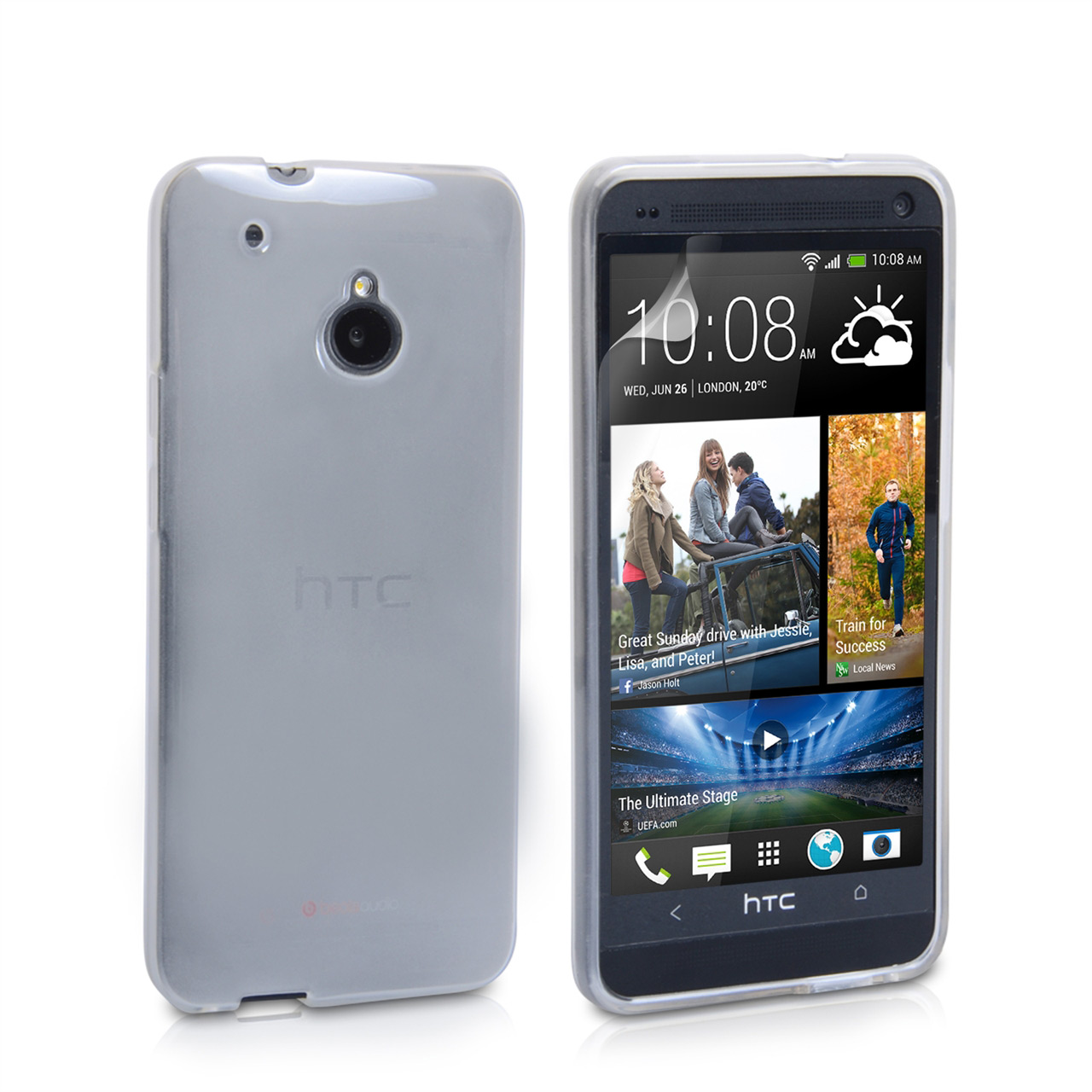 YouSave Accessories HTC ONE Mini Silicone Gel Case - Clear
