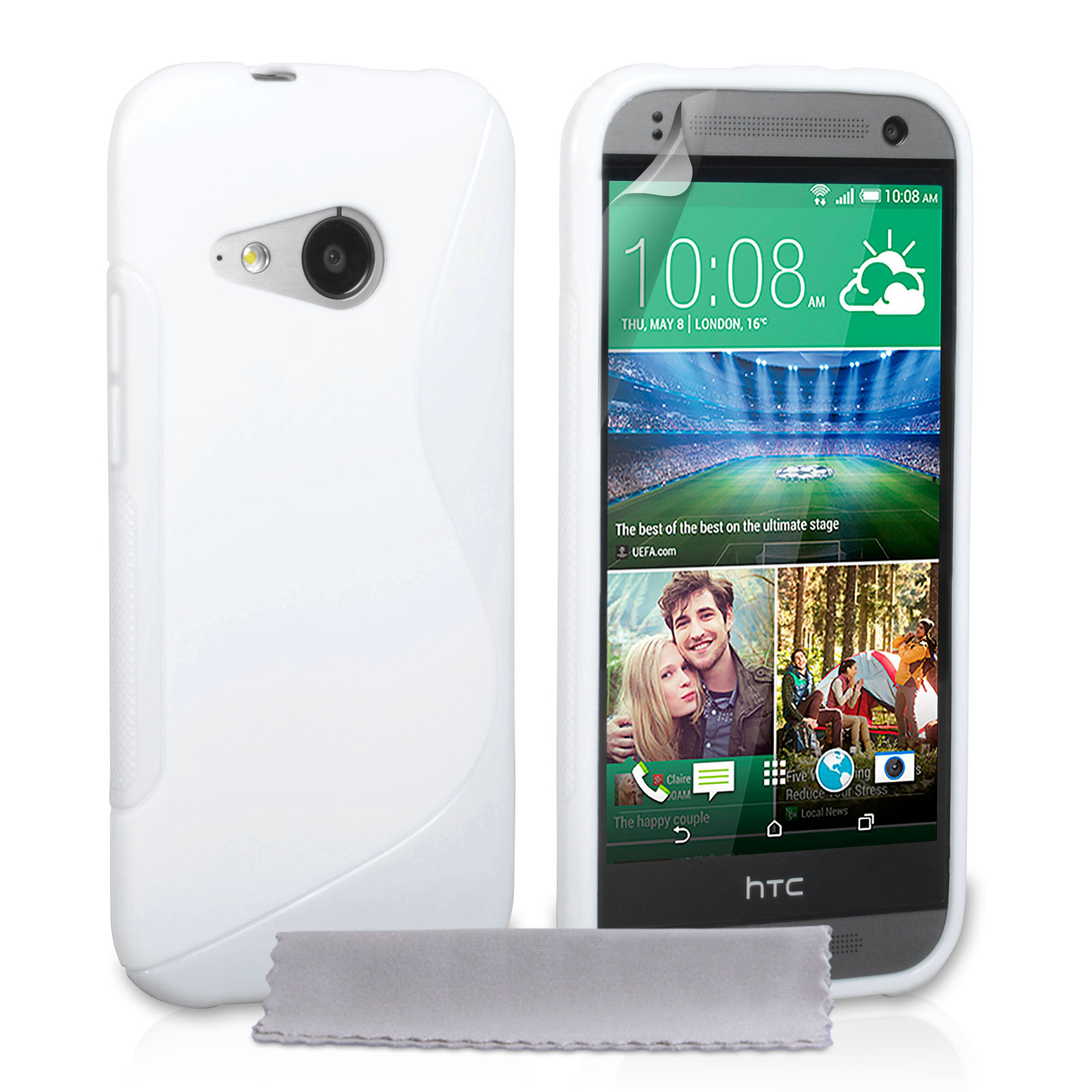 Caseflex HTC One Mini 2 Silicone Gel S-Line Case - White