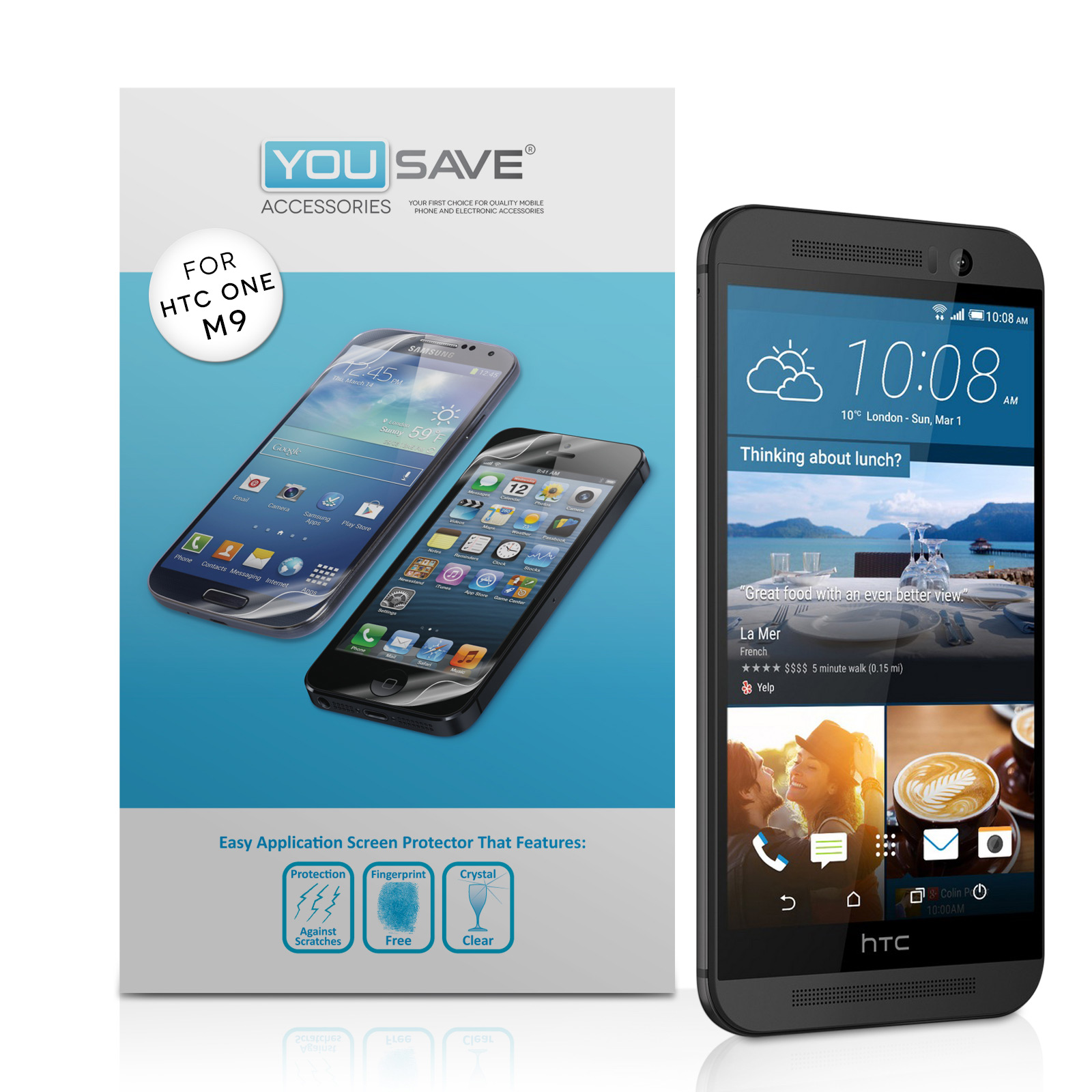 YouSave HTC M9 Screen Protectors x3