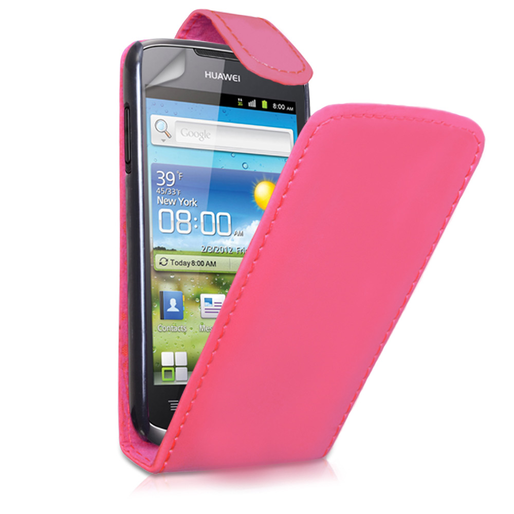 YouSave Huawei Ascend G300 Hot Pink Leather Effect Flip Case