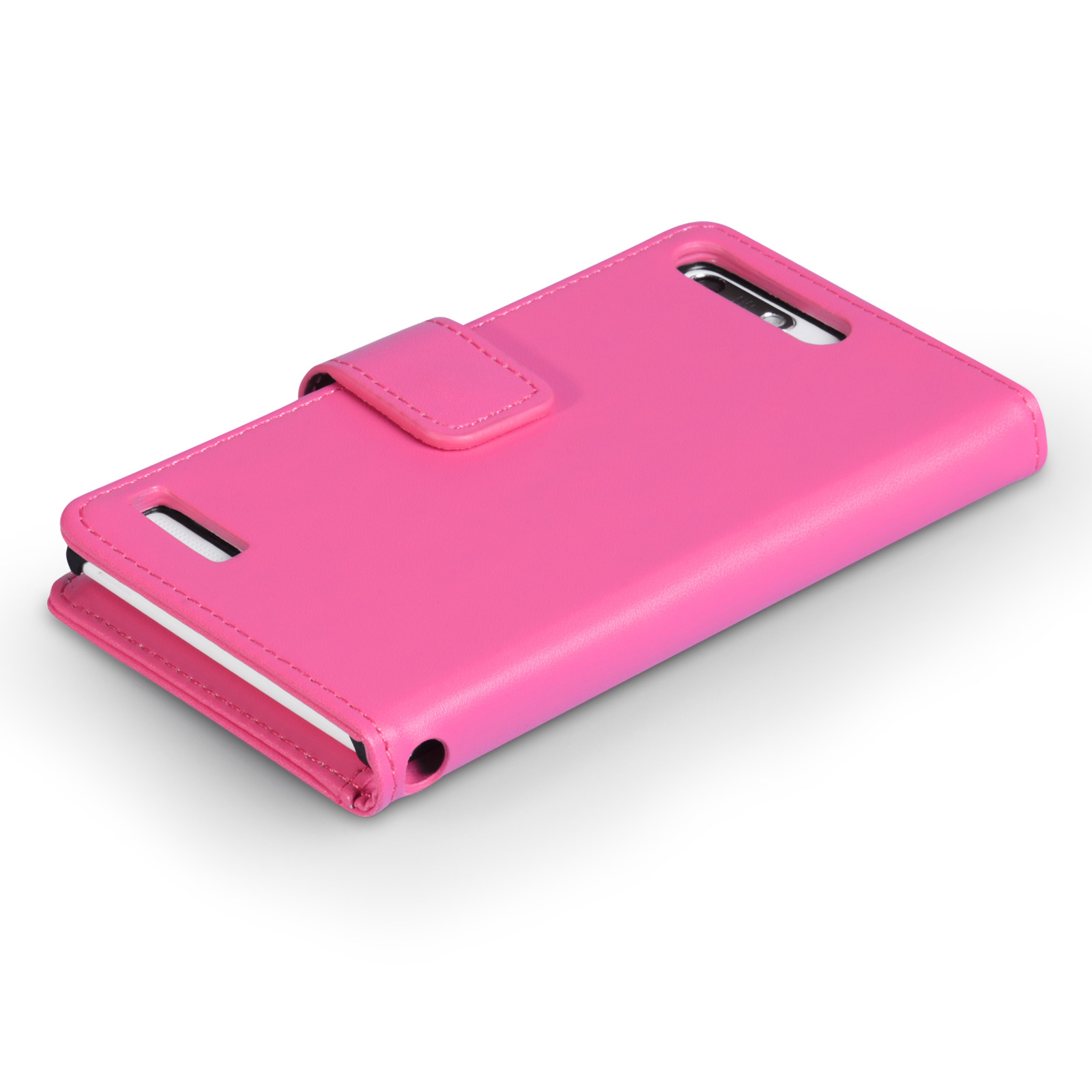 YouSave Huawei Ascend G6 Leather-Effect Wallet Case - Hot Pink