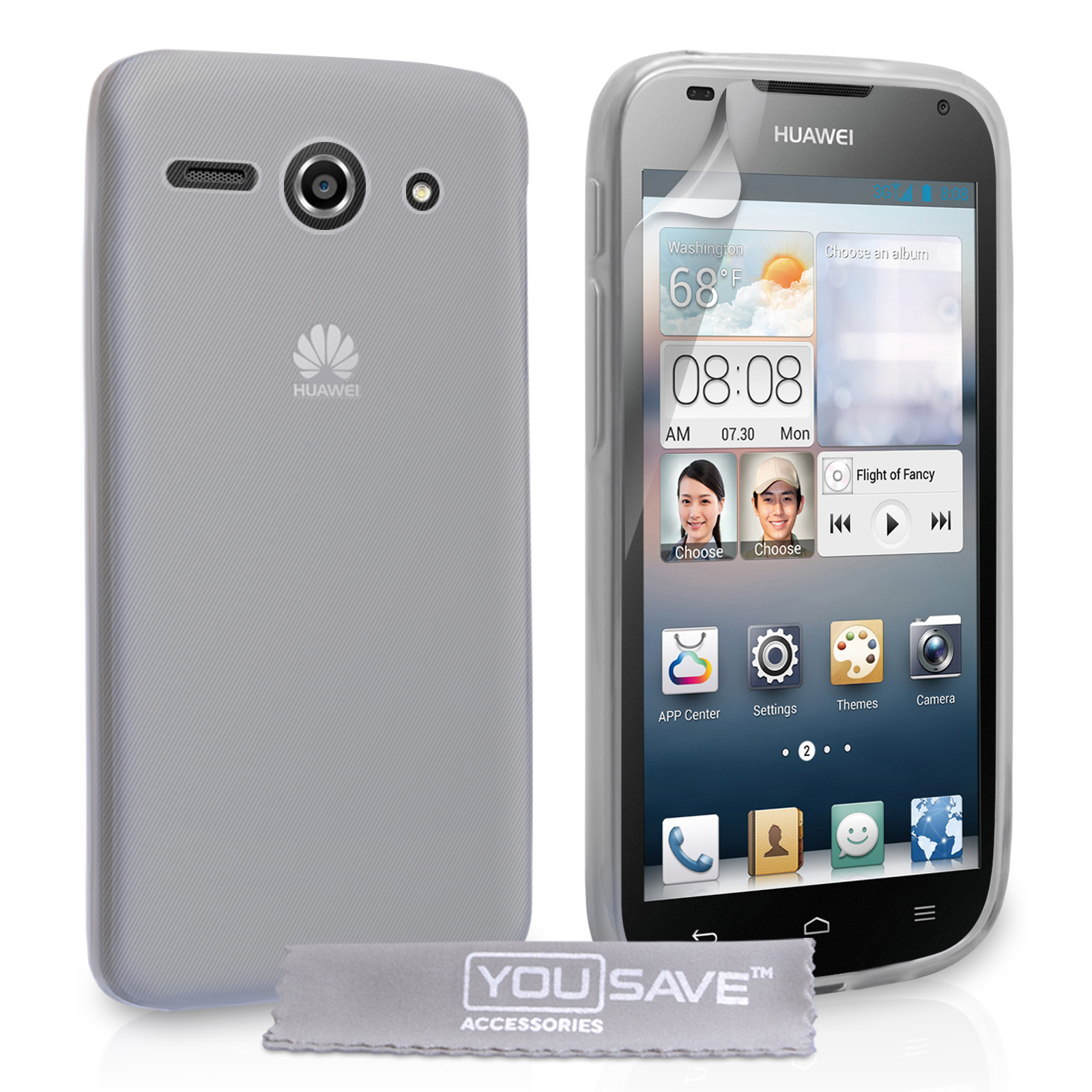 YouSave Accessories Huawei Ascend Y530 Silicone Gel Case - Clear
