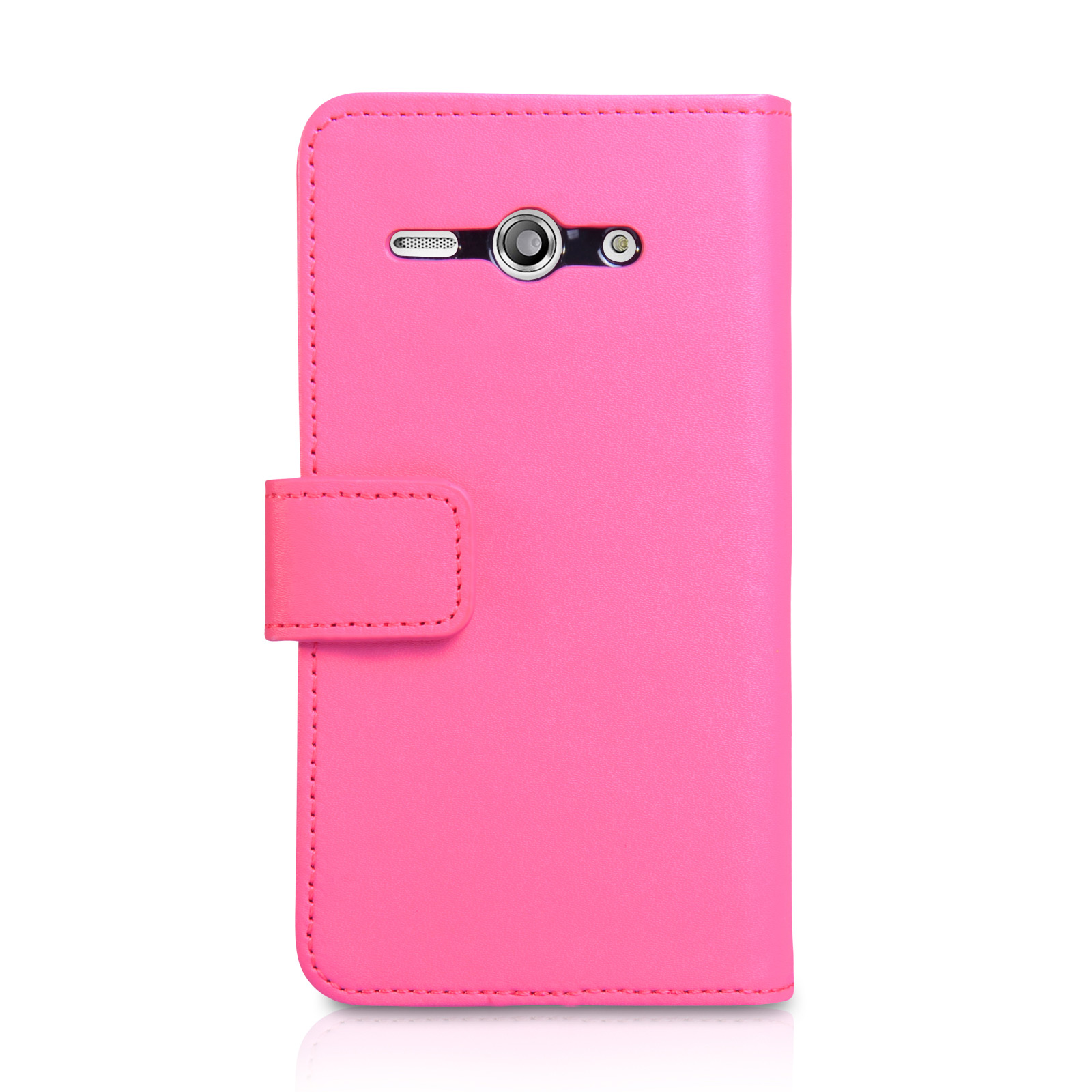 YouSave Huawei Ascend Y530 Leather-Effect Wallet Case - Hot Pink