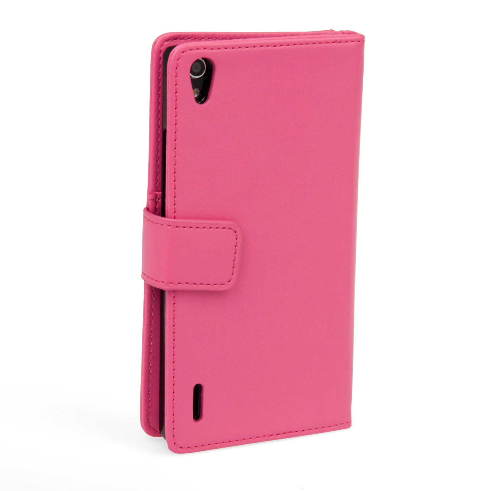 YouSave Huawei Ascend P7 Leather-Effect Wallet Case - Hot Pink