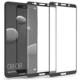 Huawei Mate 10 Pro Tempered Glass Screen Protector with Black Edge - Twin Pack
