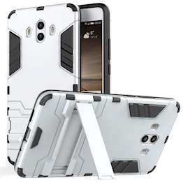 Huawei Mate 10 Armour Combo Stand Case - Steel Silver