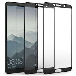 Huawei Mate 10 Tempered Glass Screen Protector with Black Edge - Twin Pack