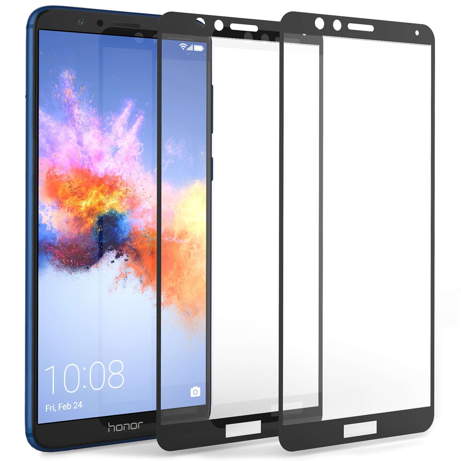 pretty nice 874bd 37565 Huawei Honor 7X Glass Screen Protectors with Black Edge