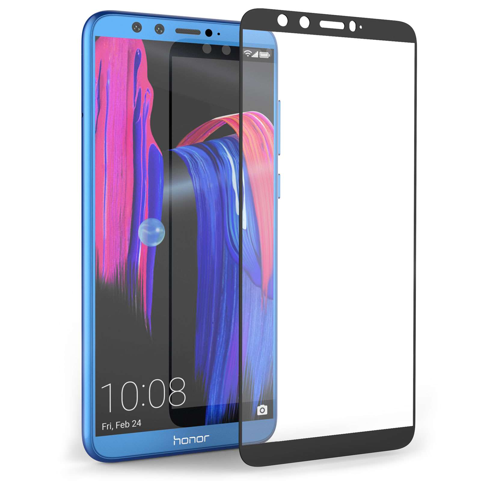 new style ebd4f d9958 Huawei Honor 9 Lite Tempered Glass Screen Protector - Clear