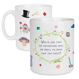 Alice in Wonderland Adventure Quote Mug