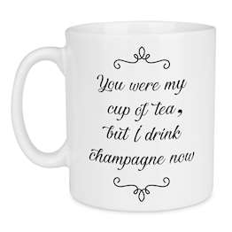 Drink Champagne Quote Ceramic Large Mug