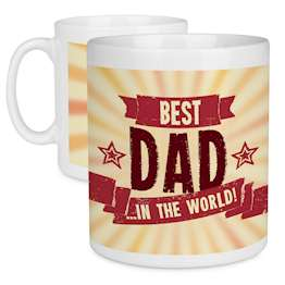 Best Dad In The World Fathers Day Gift Quote Mug