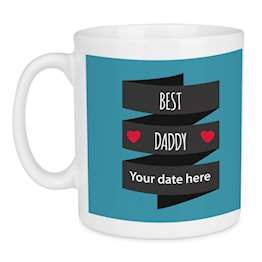 Best Daddy Custom Date Mug, Personalised Fathers Day Gift