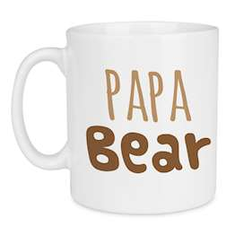 Big Papa Bear Large Farthers Day Mug