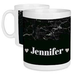 Black Marble Personalised Name Mug