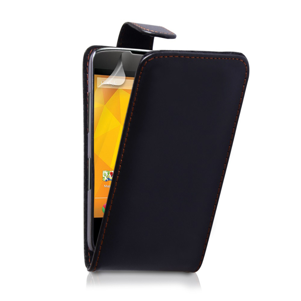 YouSave Accessories Nexus 4 Leather Effect Flip Case - Black