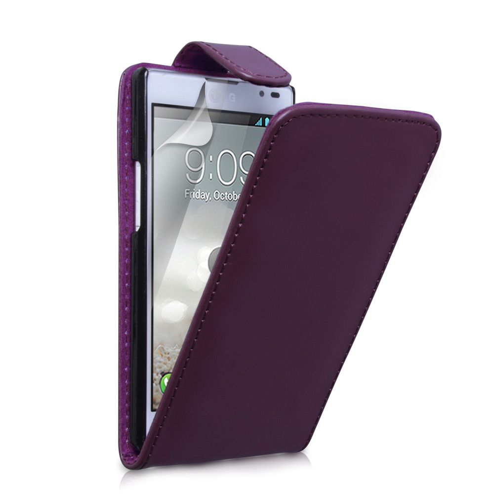 YouSave Accessories LG Optimus L9 Purple Leather Effect Flip Case
