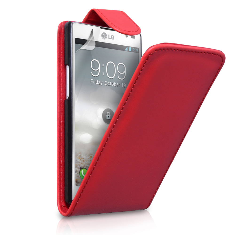 YouSave Accessories LG Optimus L9 Red Leather Effect Flip Case