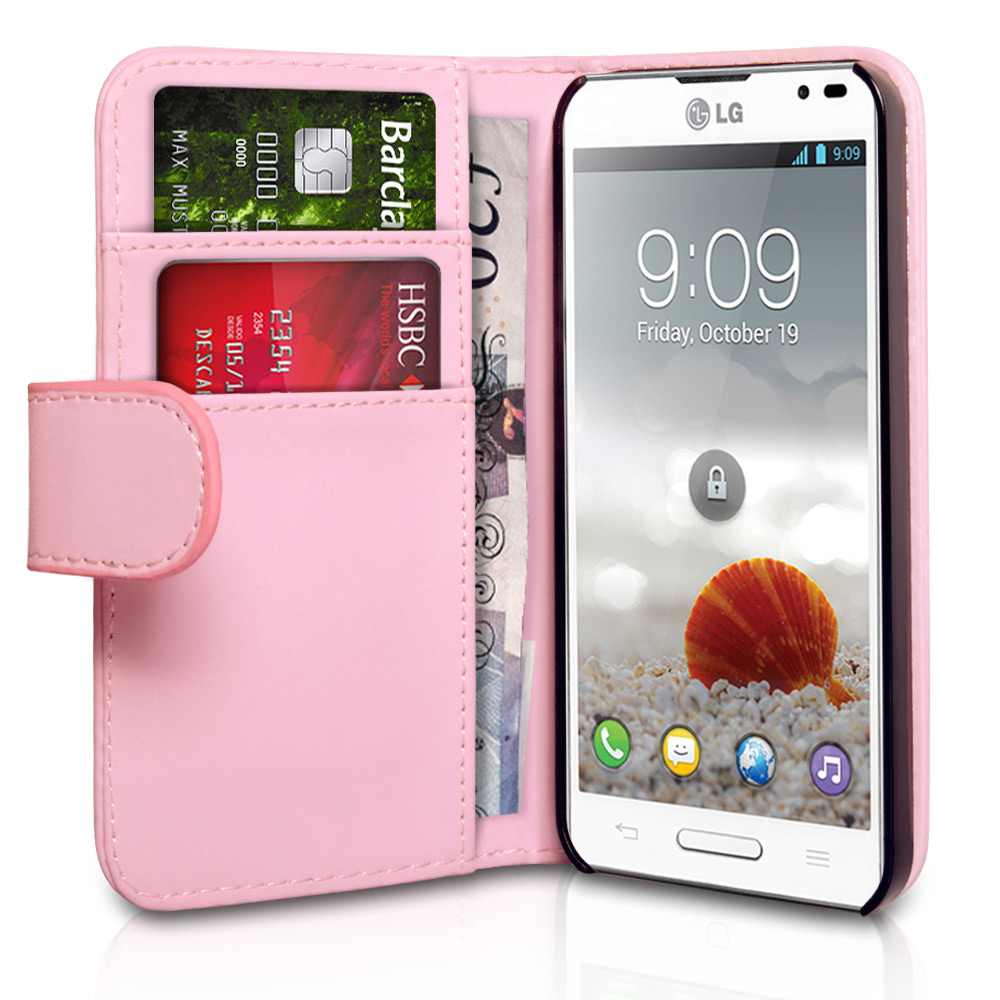 YouSave Accessories LG Optimus L9 Baby Pink Leather Effect Wallet Case