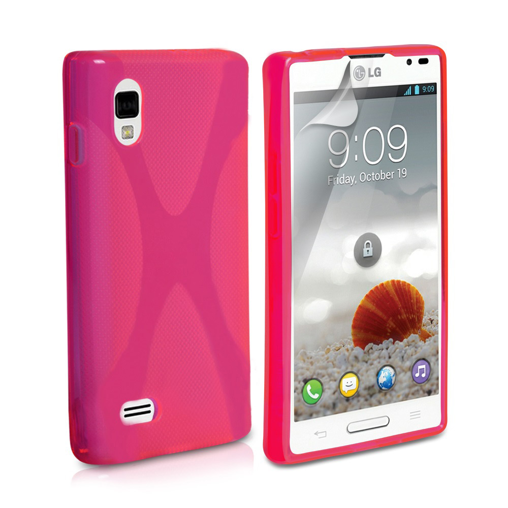 YouSave Accessories LG Optimus L9 Hot Pink X-Line Gel Case