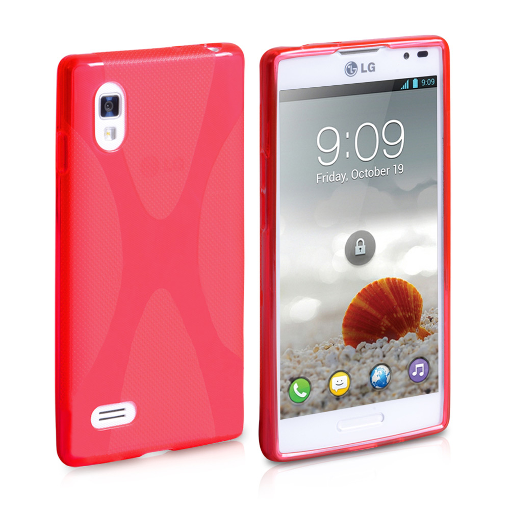 YouSave Accessories LG Optimus L9 Red Gel X-Line Case